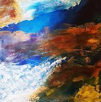 Gerhard-Winkler-Landschaft-Landschaft-Moderne-Abstrakte-Kunst