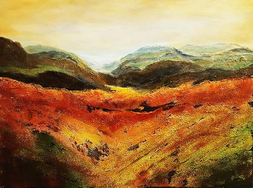 Gerhard Winkler, Berg und Tal, Landschaft, Landschaft: Berge, Abstrakte Kunst, Expressionismus