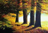 Gerhard-Winkler-Landschaft-Herbst-Landschaft-Herbst-Moderne-Abstrakte-Kunst-Action-Painting
