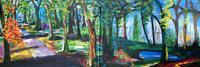 Gerhard-Winkler-Landschaft-Sommer-Abstraktes-Moderne-Abstrakte-Kunst-Action-Painting