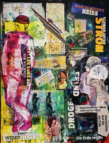Gerhard Winkler, Nadelstiche, Gesellschaft, Action Painting, Abstrakter Expressionismus
