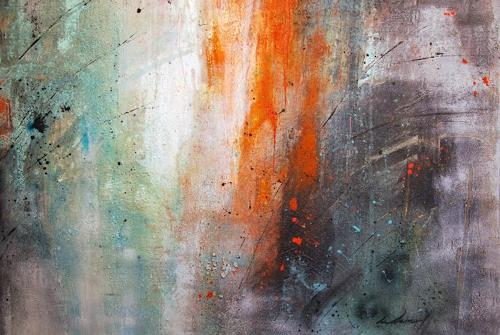 Katrin Wetzel, Warten auf Regen, Abstraktes, Informel, Expressionismus