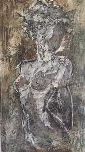 Christiane Mohr, Akt, Abstraktes, Menschen: Frau, Abstrakte Kunst