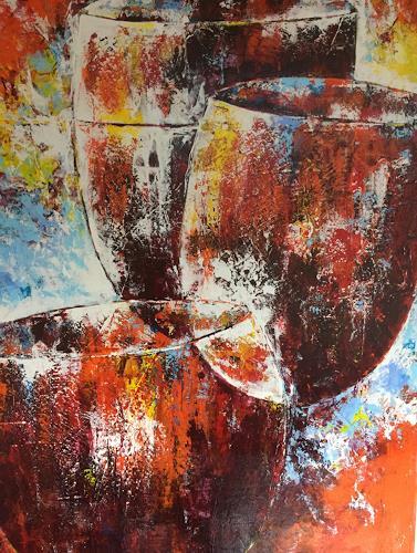 Christiane Mohr, Fröhlichkeit, Essen, Abstrakte Kunst, Expressionismus