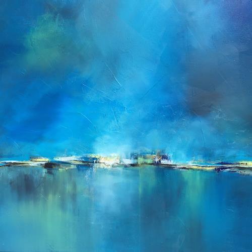Christiane Mohr, Blaues Licht, Landschaft, Landschaft: Ebene, Abstrakte Kunst, Expressionismus