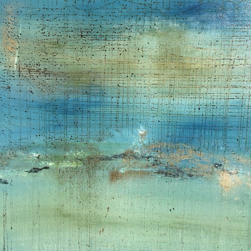 Christiane Mohr, Der Himmel bricht auf, Landschaft, Abstraktes, Abstrakte Kunst, Expressionismus