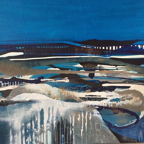 Christiane Mohr, Winterzeit, Landschaft, Diverse Landschaften, Abstrakte Kunst, Expressionismus