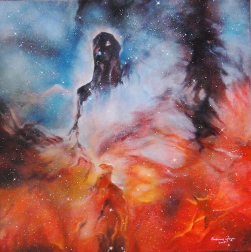 Susanne Geyer, The Elephant Trunk Nebula, Weltraum: Gestirne, Diverse Weltraum, Gegenwartskunst, Abstrakter Expressionismus