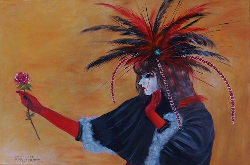 Susanne Geyer, Carneval, Fantasie, Menschen: Frau, Gegenwartskunst