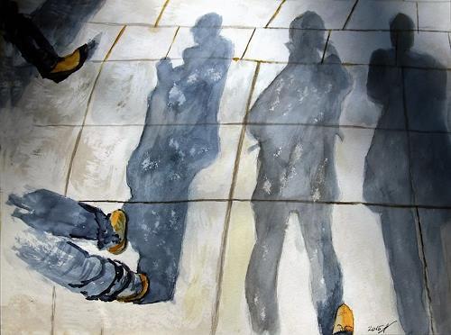 Leon4, Shadows, Abstraktes, Gegenwartskunst