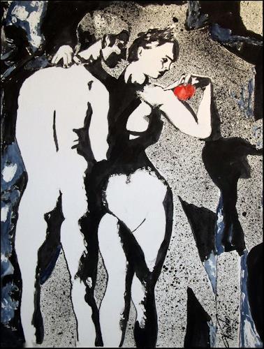 Leon4, Adam und Eva, Mythologie, Diverse Erotik, Abstrakte Kunst, Abstrakter Expressionismus