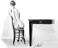 Leon4, Dame bei Tisch