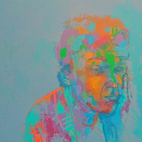 Iris Jurjahn, Gedanken am Morgen, Menschen, Abstrakter Expressionismus