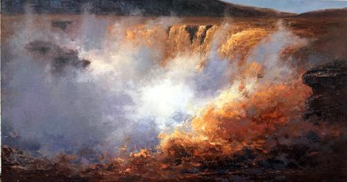 jingshen you, landscape 037, Landschaft, Dekoratives, Gegenwartskunst, Expressionismus