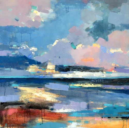 jingshen you, Colorful and mysterious sky 189, Landschaft, Dekoratives, Gegenwartskunst, Expressionismus
