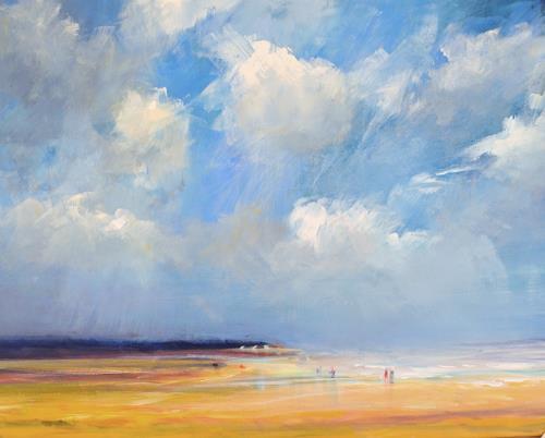 wim van de wege, Strand Vrouwenpolder Zeeland, Landschaft: See/Meer, Impressionismus, Expressionismus