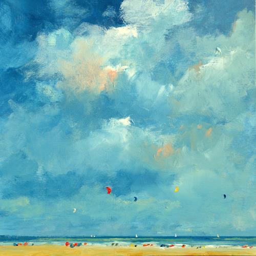 wim van de wege, Strand nach regnerischen Tagen, Landschaft: See/Meer, Postimpressionismus, Expressionismus