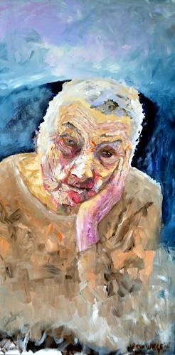 wim van de wege, Alzheimer Patient 2, Menschen: Frau, Menschen: Porträt, Impressionismus, Abstrakter Expressionismus