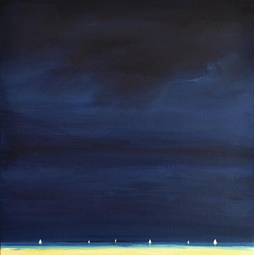 wim van de wege, Regatta on the Oosterschelde, Landschaft: See/Meer, Impressionismus, Abstrakter Expressionismus