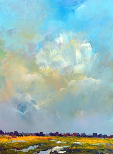 wim van de wege, Yerseke Moer, Landschaft, Landschaft: See/Meer, Impressionismus, Expressionismus