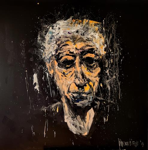 wim van de wege, The end of his artistic career, Menschen: Mann, Menschen: Porträt, Expressionismus, Abstrakter Expressionismus