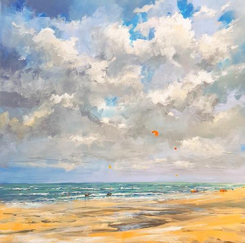 wim van de wege, Last summerday 2017, Landschaft: See/Meer, Freizeit, Impressionismus, Expressionismus
