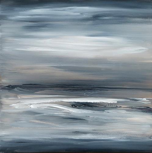 wim van de wege, Abstract winter landscape, Landschaft, Landschaft: Winter, Abstrakte Kunst, Expressionismus