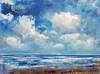 wim-van-de-wege-Landschaft-See-Meer-Landschaft-Strand-Moderne-Impressionismus-Neo-Impressionismus