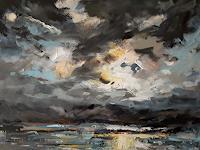 wim-van-de-wege-Landschaft-See-Meer-Landschaft-Berge-Moderne-Impressionismus