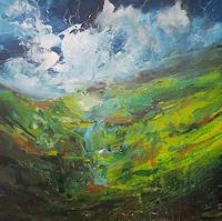 wim-van-de-wege-Landschaft-Berge-Landschaft-Moderne-Expressionismus