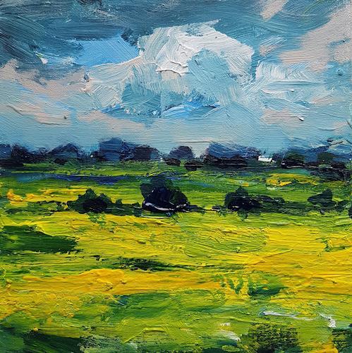 wim van de wege, Poldersketches #21, Landschaft, Diverse Landschaften, Impressionismus, Expressionismus