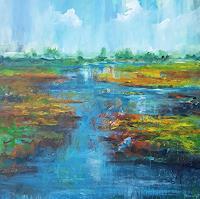 wim-van-de-wege-Landschaft-Landschaft-Herbst-Moderne-Impressionismus