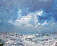 wim-van-de-wege-Landschaft-Winter-Landschaft-See-Meer-Moderne-Impressionismus