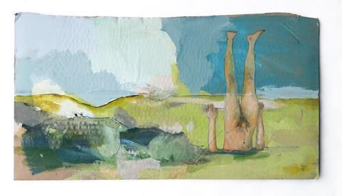 Victor Koch, Alles richtig machen, Diverse Landschaften, Menschen: Mann, Gegenwartskunst, Abstrakter Expressionismus