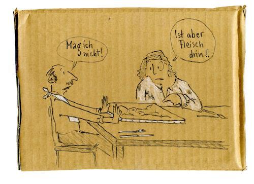 Victor Koch, Die schlichte Ablehnung, Menschen: Mann, Gesellschaft, Gegenwartskunst