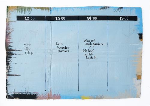 Victor Koch, Sieben vor vier, Abstraktes, Zeiten: Zukunft, Gegenwartskunst, Expressionismus