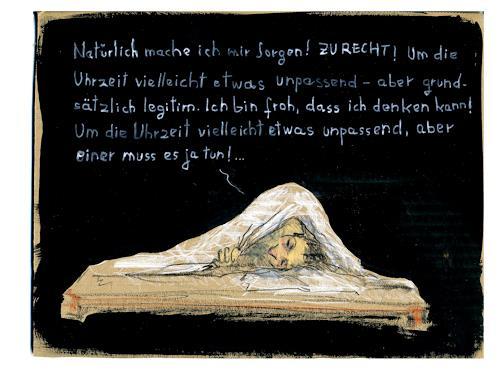 Victor Koch, Lösung und Schlaf, Menschen: Mann, Gefühle: Depression, Gegenwartskunst
