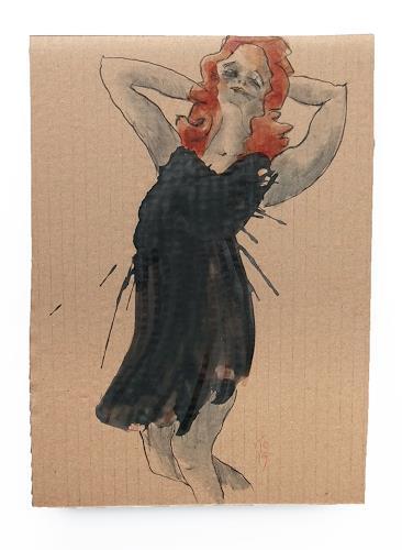 Victor Koch, Kleid an Rothaariger, Menschen: Frau, Fashion, Gegenwartskunst