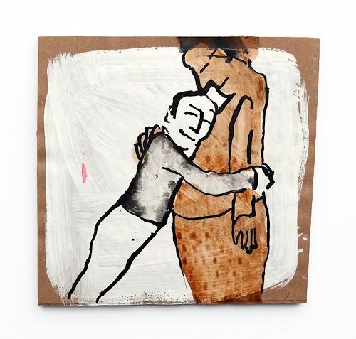 Victor Koch, Manche halten sich intensiv am 31. Januar fest, Menschen: Mann, Zeiten, Gegenwartskunst, Expressionismus