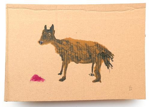 Victor Koch, Die meisten Tiere wissen nicht, warum sie Himbeerheu bekommen, Tiere: Land, Skurril, Gegenwartskunst