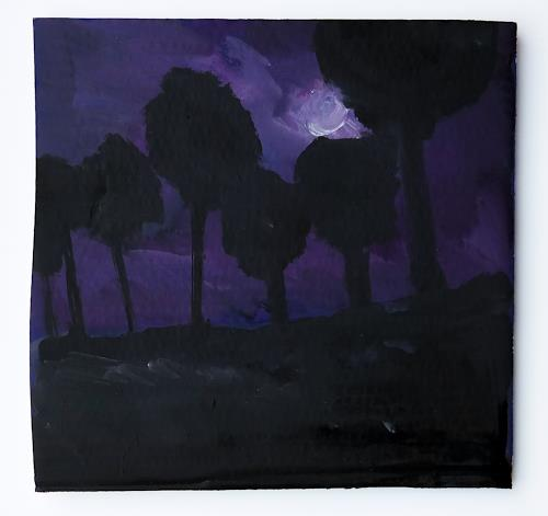 Victor Koch, Nachthimmel, Diverse Landschaften, Situationen, Gegenwartskunst, Abstrakter Expressionismus