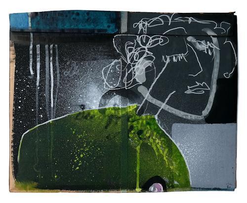 Victor Koch, Stimmung, Menschen: Frau, Gefühle: Depression, Gegenwartskunst, Abstrakter Expressionismus