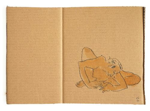 Victor Koch, sich sammeln, Situationen, Menschen: Mann, Gegenwartskunst, Expressionismus