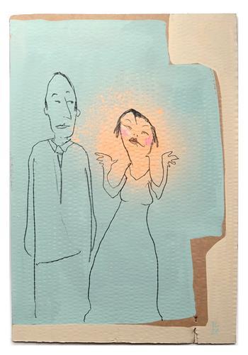 Victor Koch, Traumfrau, Menschen: Paare, Gefühle: Liebe, Gegenwartskunst, Abstrakter Expressionismus