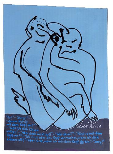 Victor Koch, Annäherung, Menschen: Paare, Gefühle: Aggression, Gegenwartskunst