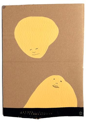 Victor Koch, Theoretische Begegnung, Menschen: Paare, Diverse Gefühle, Gegenwartskunst, Abstrakter Expressionismus