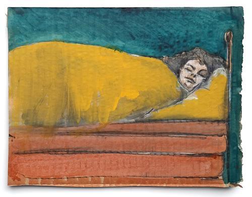 Victor Koch, Durchschlafen, Menschen: Frau, Gesellschaft, Gegenwartskunst