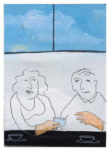 Victor Koch, Nimm wenig!, Menschen: Paare, Essen, Gegenwartskunst