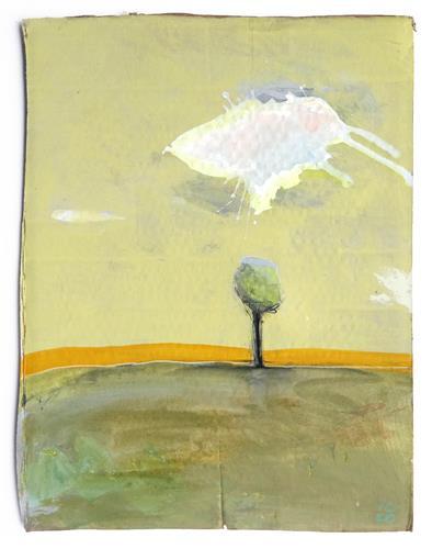 Victor Koch, Schutzwolke_vakant, Landschaft: Ebene, Natur: Diverse, Gegenwartskunst, Expressionismus
