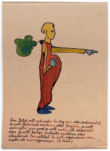 Victor Koch, Der Künstler und der Prem, Menschen: Mann, Skurril, Gegenwartskunst